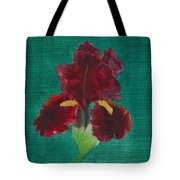 Red Iris Tote Bag