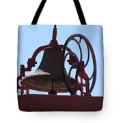 Red Iron Bell Tote Bag
