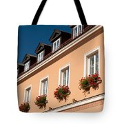 Red Ivy Leaved Geranium Bunches Tote Bag