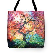 Red Japanese Maple Tote Bag