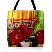 Red Juicy Apples Tote Bag