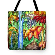 Red Jungle. Alien Planet Tote Bag