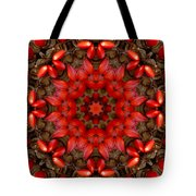 Red Kaleidoscope No. 1 Tote Bag