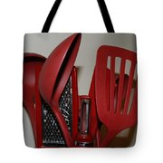 Red Kitchen Utencils Tote Bag