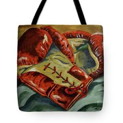 Red Laces  Tote Bag