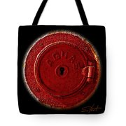 Red Lake Tote Bag