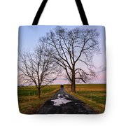 Red Lane With Purple Sky Tote Bag