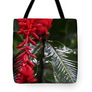 Red Lava Flower Tote Bag