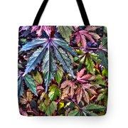Red Leaf Hibiscus Tote Bag