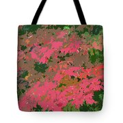 Red Leafs Work Number 12 Tote Bag