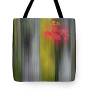 Red Leaves - Abstract Tote Bag by Gary Lengyel