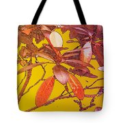Red Leaves Gold Sunset Tote Bag