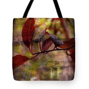 Red Leaves Painted Effect Tote Bag