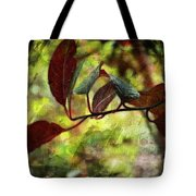 Red Leaves With Texture Tote Bag