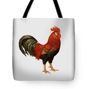 Red Leghorn Rooster Tote Bag