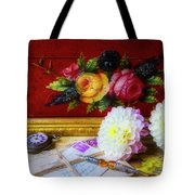 Red Letter Box And Dahlias Tote Bag