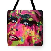 Red Light Offer, Palette Knife Painting Tote Bag