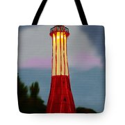Red Lighthouse Tote Bag