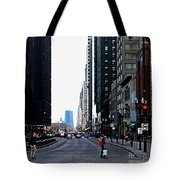 Red Lights - City Of Chicago Tote Bag