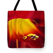 Red Lily Center 4 Tote Bag
