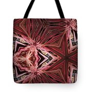 Red Lines In Nature Tote Bag