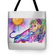 Red Lion Tote Bag by Larry  Johnson