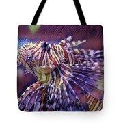 Red Lionfish Art Tote Bag
