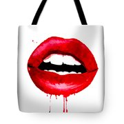 Red Lips 3  Tote Bag