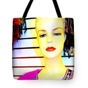 Red Lips And Sequins Tote Bag