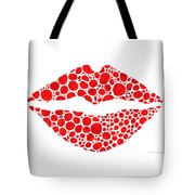 Red Lips Art - Big Kiss - Sharon Cummings Tote Bag