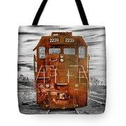 Red Locomotive Tote Bag