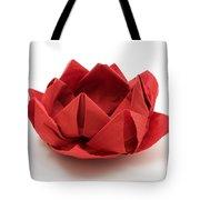 Red Lotus Origami Tote Bag