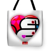 Red Love Heart Tote Bag