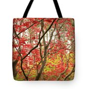 Red Maple Leaves And Branches Tote Bag