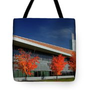 Red Maple Trees And Modern Architecture Of Seneca College York U Tote Bag