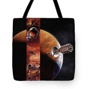 Red Mars Cover Painting Tote Bag