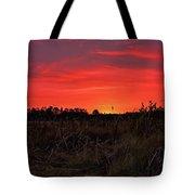 Red Marsh Sunrise Tote Bag