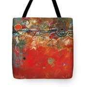 Red Meander Tote Bag