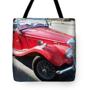 Red Mg Antique Car Tote Bag