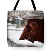 Red Milking Devon Snowflakes Tote Bag