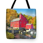 Red Mill Nj Fall Landscape Tote Bag