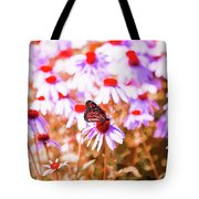 Red Monarch Tote Bag