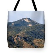 Red Mountain In The Foothills Of Pikes Peak Colorado Tote Bag