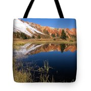 Red Mountain Reflection Tote Bag