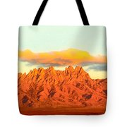 Red Mountain Sunset Organs Tote Bag