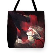 Red Nebula Tote Bag