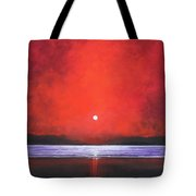 Red Night Tote Bag