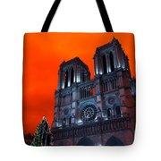 Red Notre Dame Pop Art Tote Bag