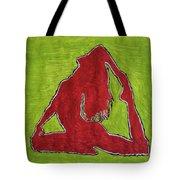 Red Nude Yoga Girl Tote Bag