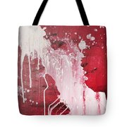 Red Number Seven Tote Bag